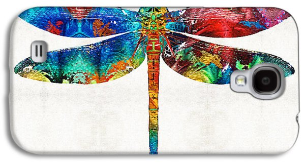 Flies Galaxy S4 Cases - Colorful Dragonfly Art By Sharon Cummings Galaxy S4 Case by Sharon Cummings