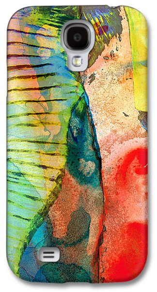 Tusk Galaxy S4 Cases - Colorful Elephant Art By Sharon Cummings Galaxy S4 Case by Sharon Cummings