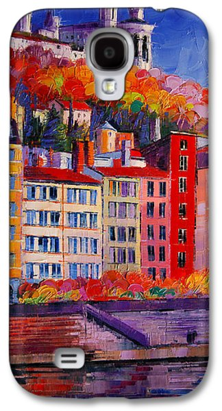 Chimneys Galaxy S4 Cases - Colorful Facades On The Banks Of Saone - Lyon France Galaxy S4 Case by Mona Edulesco