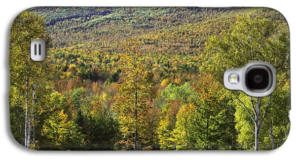Maine Photographs Galaxy S4 Cases - Colorful Fall Landscape From Center Hill in Weld Maine Galaxy S4 Case by Keith Webber Jr