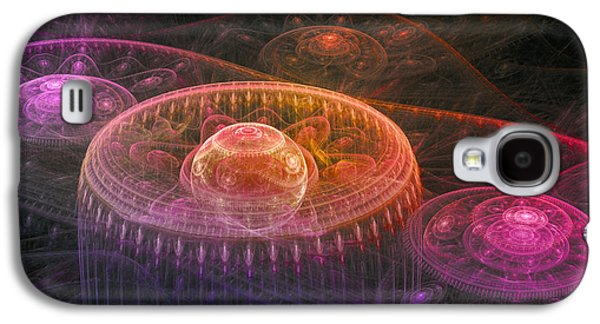 Abstract Digital Galaxy S4 Cases - Colorful fantasy landscape Galaxy S4 Case by Martin Capek
