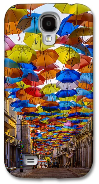 Concept Photographs Galaxy S4 Cases - Colorful Floating Umbrellas Galaxy S4 Case by Marco Oliveira