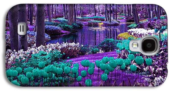 Fantasy Galaxy S4 Cases - Colorful Flower Garden Galaxy S4 Case by Marvin Blaine