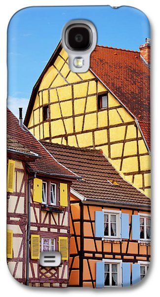 Colorful Half-timbered Houses Of Petite Galaxy S4 Case by Brian Jannsen