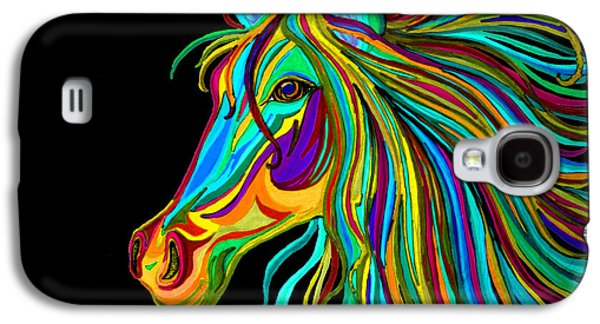 Head Drawings Galaxy S4 Cases - Colorful Horse Head 2 Galaxy S4 Case by Nick Gustafson