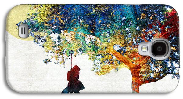 Spirituality Galaxy S4 Cases - Colorful Landscape Art - The Dreaming Tree - By Sharon Cummings Galaxy S4 Case by Sharon Cummings