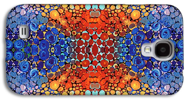 Blue Abstracts Galaxy S4 Cases - Colorful Layers - Abstract Art By Sharon Cummings Galaxy S4 Case by Sharon Cummings