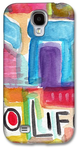 Celebration Galaxy S4 Cases - Colorful Life- Abstract Jewish Greeting Card Galaxy S4 Case by Linda Woods