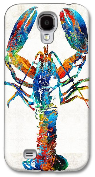 Maine Beach Galaxy S4 Cases - Colorful Lobster Art by Sharon Cummings Galaxy S4 Case by Sharon Cummings
