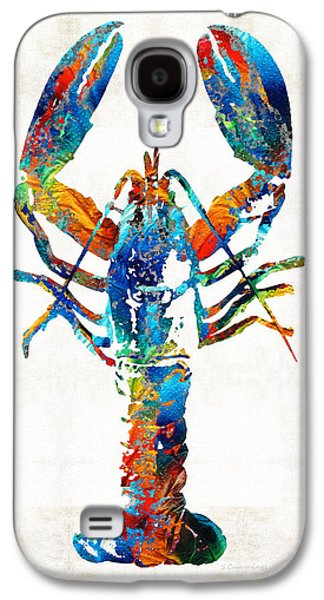 Seaside Galaxy S4 Cases - Colorful Lobster Art by Sharon Cummings Galaxy S4 Case by Sharon Cummings