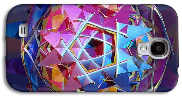 Fractal Orbs Galaxy S4 Cases - Colorful metallic orb Galaxy S4 Case by Gaspar Avila