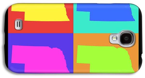 Nebraska. Galaxy S4 Cases - Colorful Nebraska State Pop Art Map Galaxy S4 Case by Keith Webber Jr