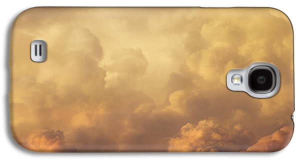 Colorful Cloud Formations Galaxy S4 Cases - Colorful Orange Magenta Storm Clouds At Sunset Galaxy S4 Case by Keith Webber Jr