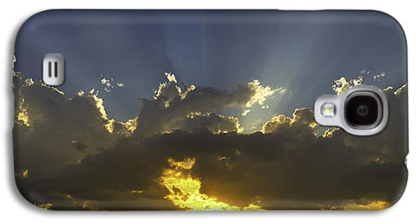 Religious Galaxy S4 Cases - Colorful Orange Yellow Clouds At Sunset Panorama Fine Art print Galaxy S4 Case by Keith Webber Jr