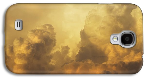 Colorful Cloud Formations Galaxy S4 Cases - Colorful Orange Yellow Storm Clouds At Sunset  Galaxy S4 Case by Keith Webber Jr