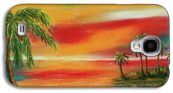 Surrealism Pastels Galaxy S4 Cases - Colorful Paradise Galaxy S4 Case by Anastasiya Malakhova
