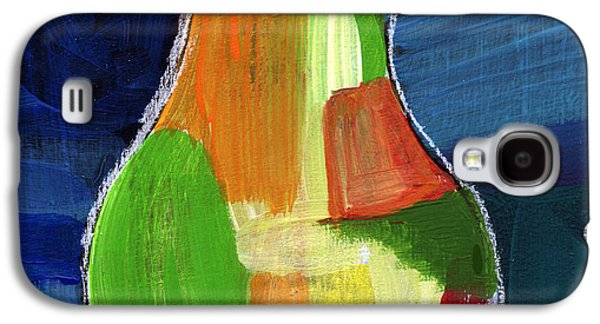 Pear Art Galaxy S4 Cases - Colorful Pear- Abstract Painting Galaxy S4 Case by Linda Woods