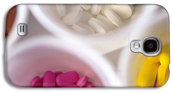 Pill Galaxy S4 Cases - Colorful Pills In White Plastic Cups Galaxy S4 Case by Jim Corwin