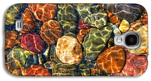 Nature Abstract Galaxy S4 Cases - Colorful Rocks in Stream Bed Montana Galaxy S4 Case by Jennie Marie Schell