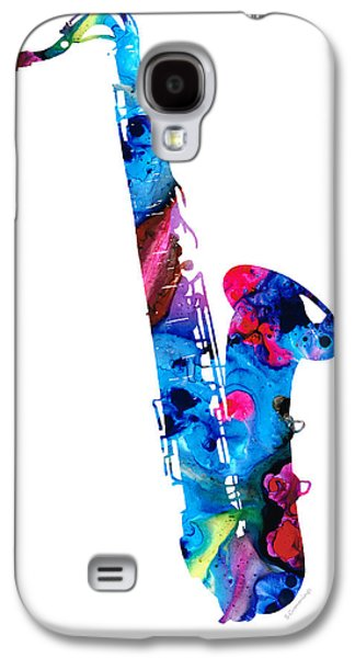 Colorful Saxophone 2 By Sharon Cummings Galaxy S4 Case by Sharon Cummings
