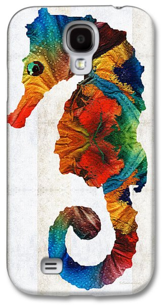Colorful Seahorse Art By Sharon Cummings Galaxy S4 Case by Sharon Cummings