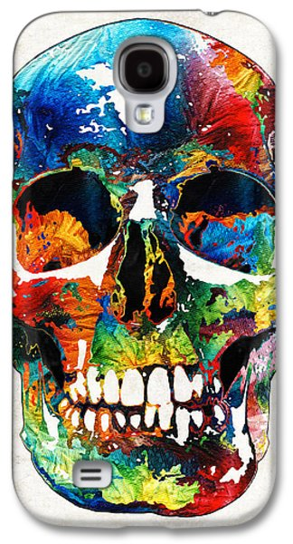 Macabre Galaxy S4 Cases - Colorful Skull Art - Aye Candy - By Sharon Cummings Galaxy S4 Case by Sharon Cummings