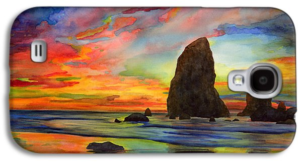 Beach Landscape Galaxy S4 Cases - Colorful Solitude Galaxy S4 Case by Hailey E Herrera