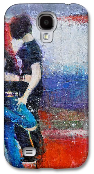 First Love Galaxy S4 Cases - Colorful Teen Together For Ever  Galaxy S4 Case by Johane Amirault