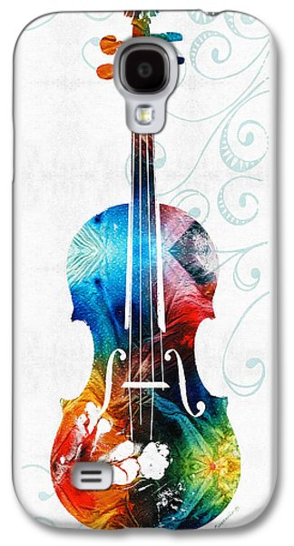 Colorful Violin Art By Sharon Cummings Galaxy S4 Case by Sharon Cummings