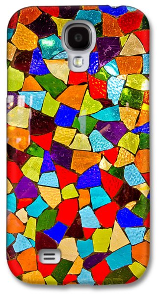 Bright Colors Glass Art Galaxy S4 Cases - Colorful visions Galaxy S4 Case by Manu Singh