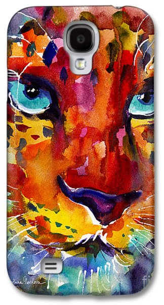 Abstract Prints For Sale Paintings Galaxy S4 Cases - Colorful Watercolor leopard painting Galaxy S4 Case by Svetlana Novikova