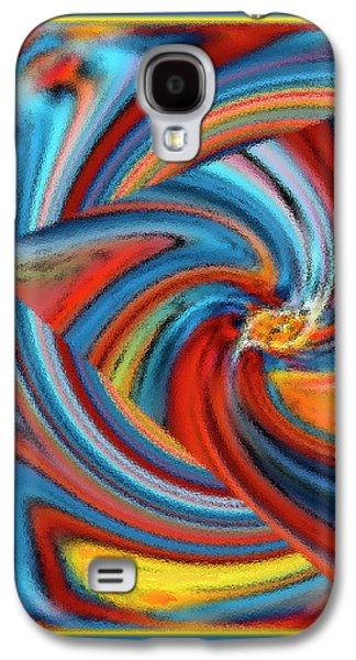 Ben Gertsberg Digital Art Galaxy S4 Cases - Colorful Waves Galaxy S4 Case by Ben and Raisa Gertsberg