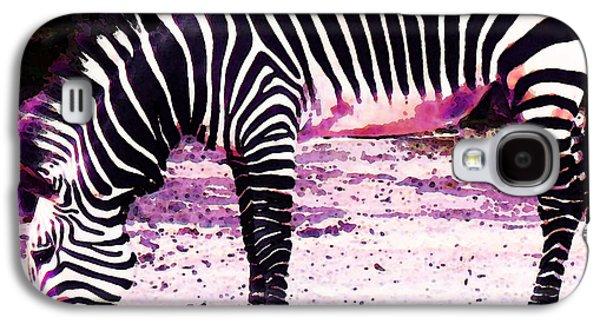Zebra Digital Art Galaxy S4 Cases - Colorful Zebra 2 - Buy Black And White Stripes Art Galaxy S4 Case by Sharon Cummings
