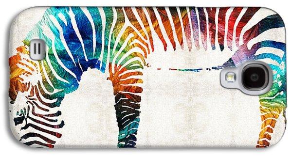 Colorful Zebra Art By Sharon Cummings Galaxy S4 Case by Sharon Cummings