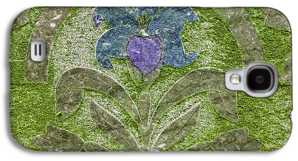 Final Resting Place Galaxy S4 Cases - Colorized Moss Covered Gravestone  Galaxy S4 Case by Jean Noren