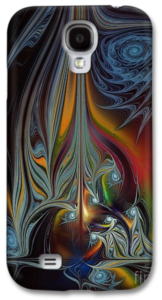 Subtle Colors Galaxy S4 Cases - Colors in Motion-Fractal Art Galaxy S4 Case by Karin Kuhlmann