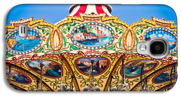 Colors Of A Carousel Galaxy S4 Case by Colleen Kammerer