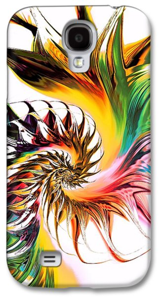 Flame Galaxy S4 Cases - Colors of Passion Galaxy S4 Case by Anastasiya Malakhova