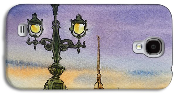 City Scape Galaxy S4 Cases - Colors Of Russia Bridge Light in Saint Petersburg Galaxy S4 Case by Irina Sztukowski
