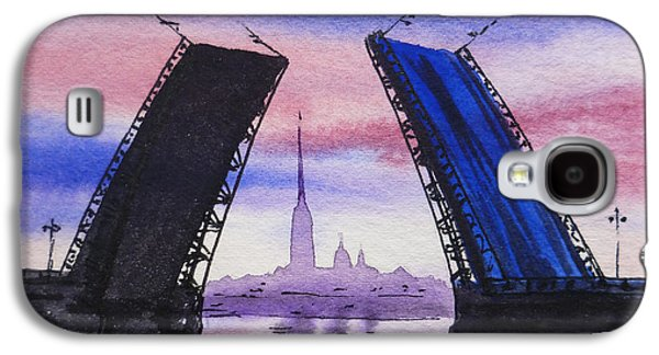 City Scape Galaxy S4 Cases - Colors Of Russia Bridges of Saint Petersburg Galaxy S4 Case by Irina Sztukowski