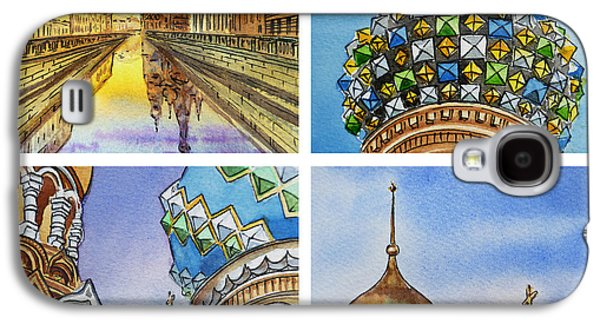 City Scape Galaxy S4 Cases - Colors Of Russia Church of Our Savior on the Spilled Blood  Galaxy S4 Case by Irina Sztukowski