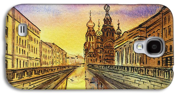City Scape Galaxy S4 Cases - Colors Of Russia St Petersburg Cathedral I Galaxy S4 Case by Irina Sztukowski