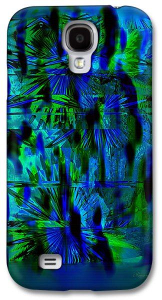 Abstract Digital Galaxy S4 Cases - Colors Of The Night Galaxy S4 Case by Georgiana Romanovna