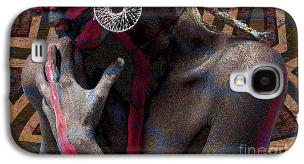 Hairstyle Digital Galaxy S4 Cases - Colors of the Skin Galaxy S4 Case by Bedros Awak
