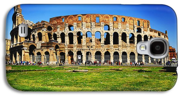 Architecture Framed Prints Galaxy S4 Cases - Colosseo Galaxy S4 Case by Stefano Senise