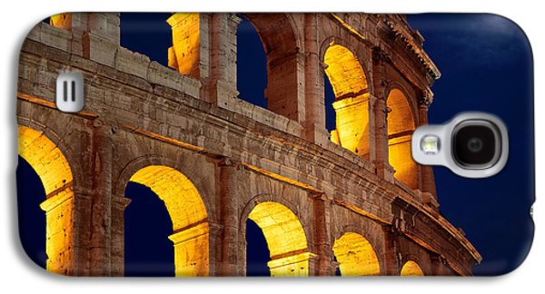 Colosseum And Moon Galaxy S4 Case by Inge Johnsson