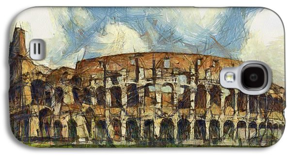 Historic Site Drawings Galaxy S4 Cases - Colosseum pencil Galaxy S4 Case by Sophie McAulay