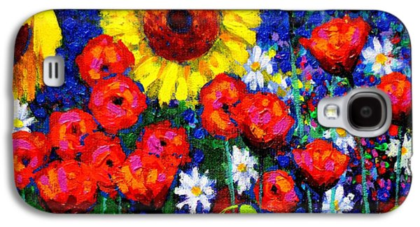 Impressionism Acrylic Prints Galaxy S4 Cases - Colour Cluster Galaxy S4 Case by John  Nolan