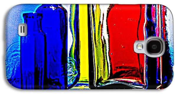 Still Life Glass Art Galaxy S4 Cases - Coloured glass  Galaxy S4 Case by Malcolm Bumstead