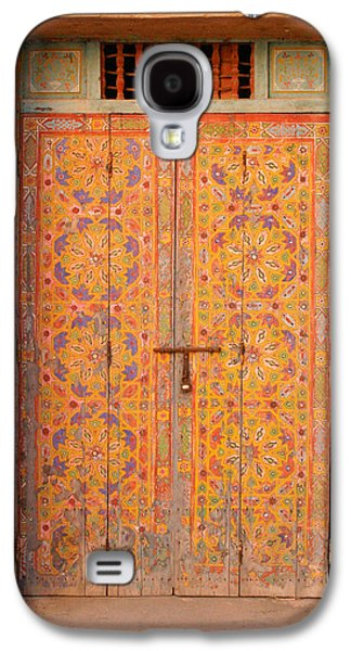 Rabat Photographs Galaxy S4 Cases - Colourful Entrance Door Sale Rabat Morocco Galaxy S4 Case by Ralph A  Ledergerber-Photography